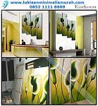 lukisan minimalis 4 panel