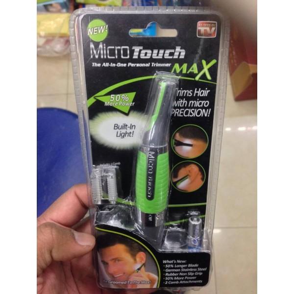 Microtouch Pemangkas Kumis Jenggot Pencukur Rambut Max Hijau Mt232 ... c377dad5b1